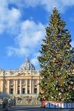 在梵蒂冈的圣诞节 库存照片