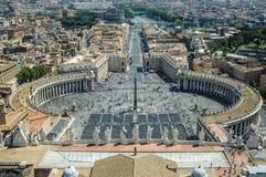 在梵蒂冈顶部在罗马 库存照片