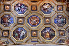 绘画在梵蒂冈 免版税库存图片