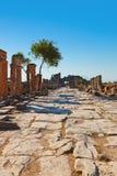 在棉花堡土耳其的老废墟 库存照片