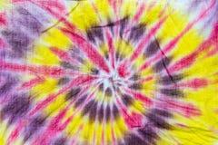 在棉花的颜色螺旋 库存图片