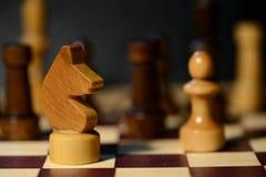在棋枰的棋形象 免版税图库摄影