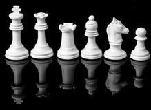 在棋的白色队 库存图片