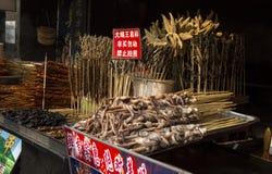 在棍子的异常的食物 免版税库存照片