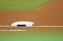 在棒球场的基础 免版税库存图片