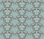 在棕色和蓝色口气的无缝的花卉样式 装饰orna 库存照片