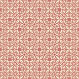 在棕色带红色基地的充分地被填装的墙壁设计无缝的样式背景例证 库存照片