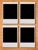 在棕色木头的空白的照片框架 免版税图库摄影