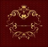 在棕色背景的金装饰品 免版税库存照片