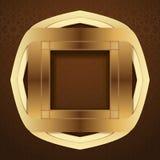 在棕色阿拉伯背景的典雅的伊斯兰教的模板设计 免版税图库摄影