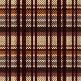 在棕色,米黄,桔子和咖啡颜色的编织的无缝的样式 免版税库存图片