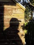 在棚子的阴影,阴险,恐吓 免版税图库摄影