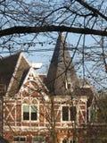 在森林中间的一个教会 库存图片
