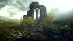 在森林里面的废墟 影视素材