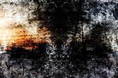 在森林幻想艺术处理的冬天col的照片 免版税图库摄影