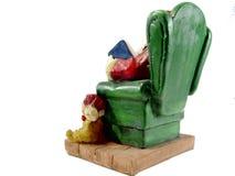 在椅子的圣诞老人 免版税库存图片
