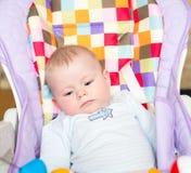 在椅子的婴孩 库存照片