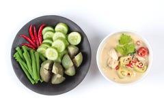 在椰奶电话& x22的被发酵的大豆豆; Toa Jiaw贷款J& x22;混杂的菜是供食的有机食品 免版税库存图片