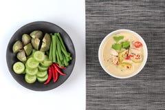 在椰奶电话& x22的被发酵的大豆豆; Toa Jiaw贷款J& x22;混杂的菜是供食的有机食品 库存图片