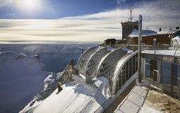 在楚格峰山的Munchner Haus 巴伐利亚人 德国 库存图片
