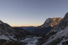 在楚格峰的看法 图库摄影