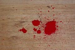 在楼层上的血液 向量例证