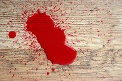 在楼层上的血液 免版税库存照片