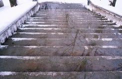 在楼梯的反射 库存图片