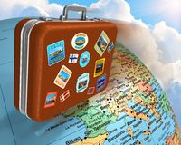 在概念旅行世界范围内 免版税库存照片