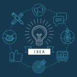 在概述样式的传染媒介创造性的想法概念 免版税库存图片