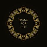 在概述样式的框架在黑背景 免版税库存照片
