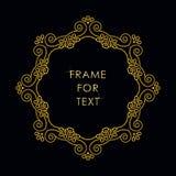 在概述样式的框架在黑背景 免版税库存图片