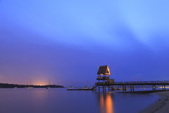 在樟宜海滩3的日出 库存图片