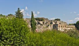在横向之内的庞贝城,意大利 免版税图库摄影
