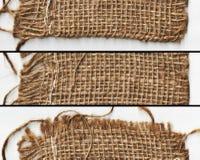 在横幅的被编织的布料纹理 免版税库存图片