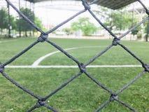 在橄榄球场的目标在泰国 免版税库存图片