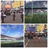 在橄榄球,安联体育场 库存图片