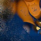 在橙色和蓝色颜色的抽象背景 免版税库存照片