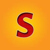 在橙色和黄色颜色字母表的唯一字符S字体 库存照片