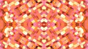 在橙色梯度颜色的抽象简单的3D背景,作为现代几何背景的低多样式或数学 向量例证