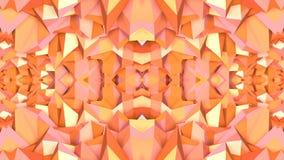 在橙色梯度颜色的抽象简单的3D背景,作为现代几何背景的低多样式或数学 库存例证