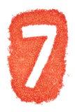 在橙色沙子的第7 免版税库存照片