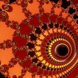 在橙色背景的一个大螺旋 免版税库存照片