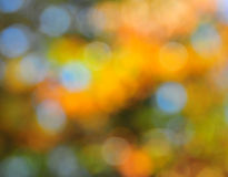在橙色金子和蓝色的抽象心情背景 库存照片
