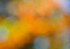 在橙色金子和蓝色的抽象心情背景 免版税库存照片