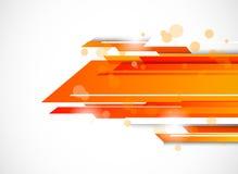 在橙色颜色的抽象技术背景 免版税库存图片