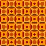 在橙色颜色的无缝的模式 库存图片