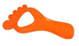 在橙色颜色的鞋抽 库存图片