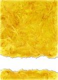 在橙黄色颜色的水彩背景 免版税库存照片