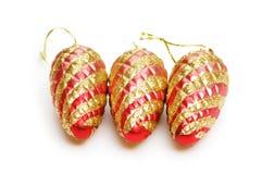 在欢乐的圣诞节装饰 免版税库存照片